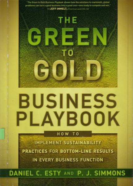 The green to gold business pla..