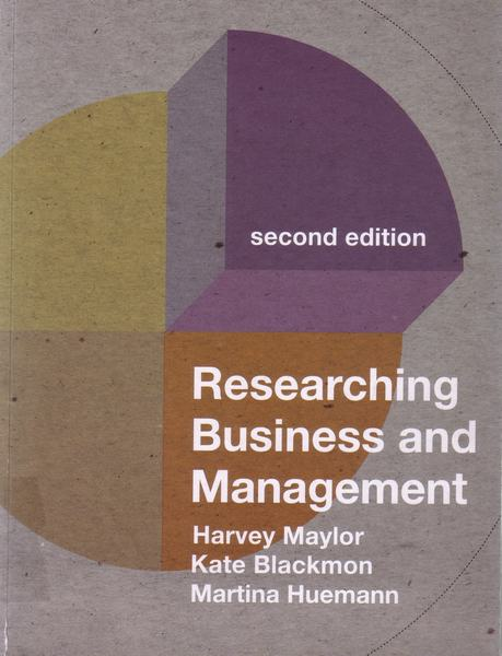 Cover of Researching business and management